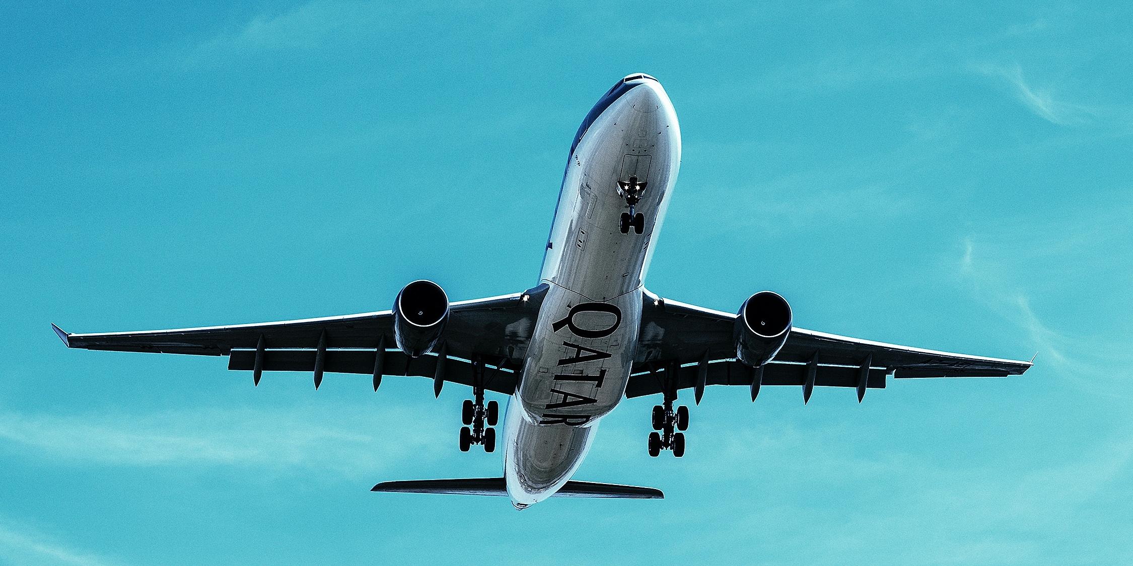 Qatar air at takeoff